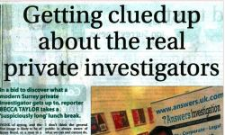Surrey Advertiser reports on the work of a modern Surrey Private Investigator